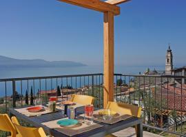 Residence Dany appartamenti con cucina vista lago piscina e parcheggio, appartamento a Gargnano