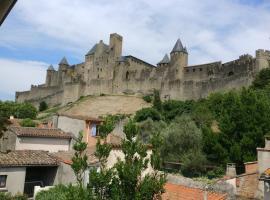 Face à la Cité : appartement avec cour !, hotel in Carcassonne
