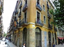 Hostal Nou Raval, quarto em acomodação popular em Barcelona