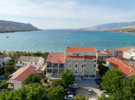 Rooms and Apartments Galeb -Salt Lake view, guest house in Pag