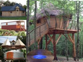 Yourte and Spa, glamping site in Chisseaux