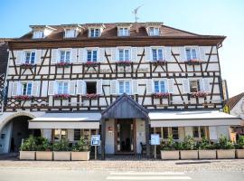 Hôtel Restaurant L'Auberge Alsacienne - Room Service disponible, hotel in Eguisheim