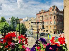 Уникальные апартаменты в центре ARTmayakovsky, hotel with jacuzzis in Saint Petersburg