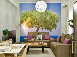 Fresh & renovated apartment next to metro station, hotel in Athens