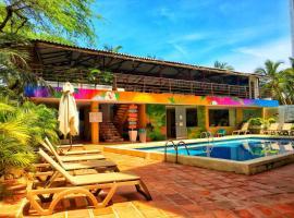 The Cantamar Beach Hostel, hotel en Santa Marta