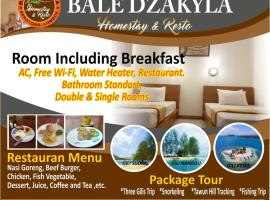 Bale Dzakyla Sekotong, beach hotel in Gili Gede