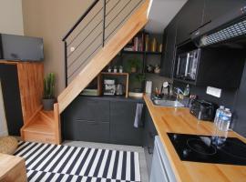 Studio duplex dans résidence de standing avec piscine, vue sur mer, hôtel au Croisic
