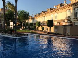 Dúplex en residencial con piscina, playa, ocio y golf cerca, hotel en Los Alcázares