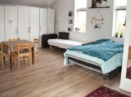 New built warm and cosy photostudio - own bath, toilet and entrance - Legoland is close by, hotel in Kolding