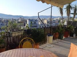 Penthouse Balcony close to Acropolis, hotel in Athens