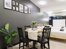 T1 Large Studio Full kitchen 100m. to BTS, apartment in Bangkok