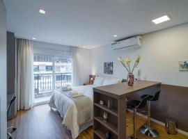 Muito confortável no Centro com cozinha completa, ar-condicionado e wi-fi APM1603, hotel com piscina em São Paulo