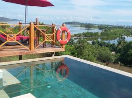 Sunset Point Villa With Private Pool, villa in Gili Gede