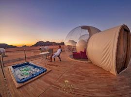 Wadi Rum Bubble Luxotel, luxury tent in Wadi Rum