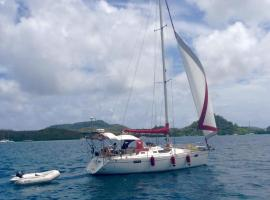 Sainte-Lucie, boat in Saint-François