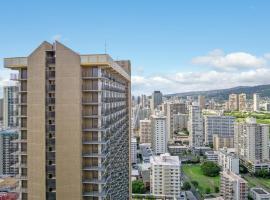 Waikiki Banyan OCEAN VIEW with FREE PARKING, apartment in Honolulu