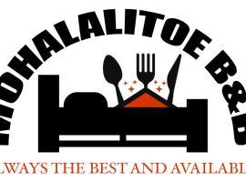 MOHALALITOE B and B, hotel in Maseru