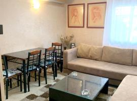 Apartment with 2 bedrooms in Casablanca, with wonderful city view, enclosed garden and WiFi - 10 km from the beach, hotel in Casablanca