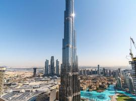 FULL BURJ KHALIFA VIEW: ATLAS HOMESTAYS - 03 BR at BURJ VISTA 5005, accessible hotel in Dubai