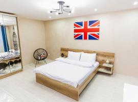 London-style interior Apartment in Rivne,Ukraine, готель у Рівному
