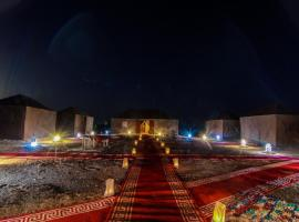 MARZOGA irg shabi, campground in Merzouga