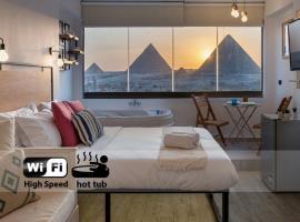 Jacuzzi By The Historic Giza Pyramids - Apartment 4، شقة في القاهرة