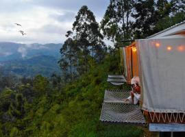 The HideoutElla Wood Cabins, luxury tent in Ella