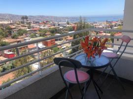Maravilloso Departamento Vista al Mar, apartamento en Valparaíso