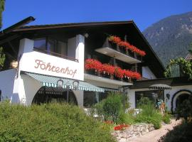 Hotel Föhrenhof Garni, pet-friendly hotel in Farchant