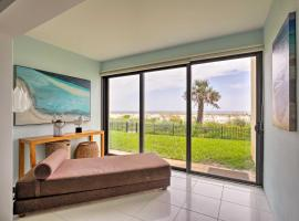 Walk-Out Oceanfront Jacksonville Beach Condo!, vacation rental in Jacksonville Beach
