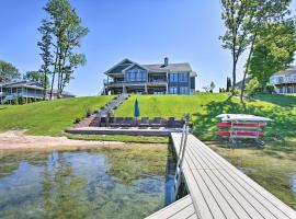 Waterfront Silver Lake Home w/ Private 40' Dock!, vacation rental in Traverse City