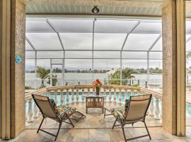 Lakefront Home with Private Dock and Saltwater Pool!, Ferienunterkunft in Cape Coral