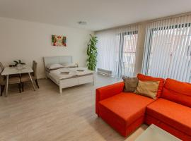 Spacious Terrace Apartment with free private parking, pet-friendly hotel in Prague