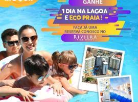 Riviera Thermas Park - C/ Ingresso Lagoa Quente incluso, apartment in Caldas Novas