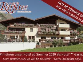 Hotel Garni Rifflsee, hotel in Sankt Leonhard im Pitztal