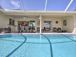 Canalfront Home with Private Saltwater Pool and Dock!, beach hotel in Marco Island