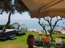 Corfu Glyfada Beachfront House 52, pet-friendly hotel in Glyfada