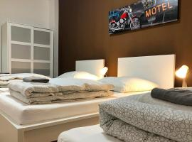 cosy three room apartment with flatscreen TV, cheap hotel in Recklinghausen
