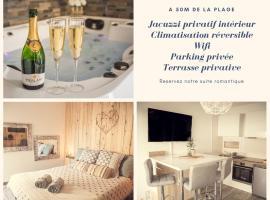 Suite avec Jacuzzi privatif Barcares Plage, hotel near Circus Casino de Port Leucate, Le Barcarès