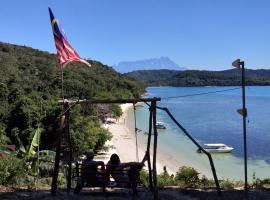 Bigfin beach resort, family hotel in Kota Belud
