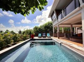 Villa Kaléna : 4 ch, plage à 50m, vue mer, hôtel au Diamant