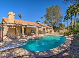 Desert Gem with Heated Pool about 4 Miles to TPC Golf!, villa in Phoenix