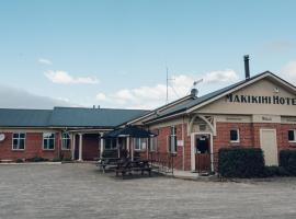 Makikihi Country Hotel, hotel in Waimate