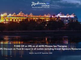 Radisson Blu Udaipur Palace Resort & Spa, hotel with jacuzzis in Udaipur