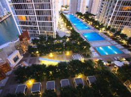Luxury Waterfront Condo In The Urban Oasis At Icon-Brickell Free Spa, luxury hotel in Miami