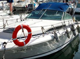 frank's boat, boat in Barcelona