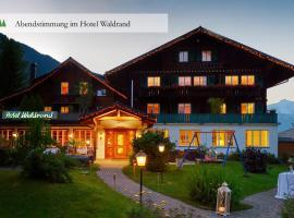 Hotel Waldrand, hotel in Lenk