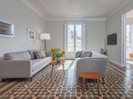 6 dormitorios en Apartamento Modernista en el Corazon de Barcelona, hotel conveniente a Barcellona