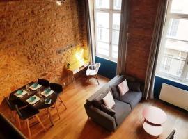 Charmant appartement style Canut Pentes Croix Rousse, szállás Lyonban