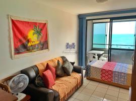 Apartamento com 2 quartos e vista para o mar, hospedagem domiciliar em Fortaleza